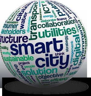 smart city globe