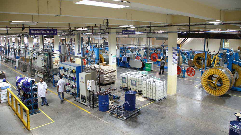 Cable production factory floor at Goa